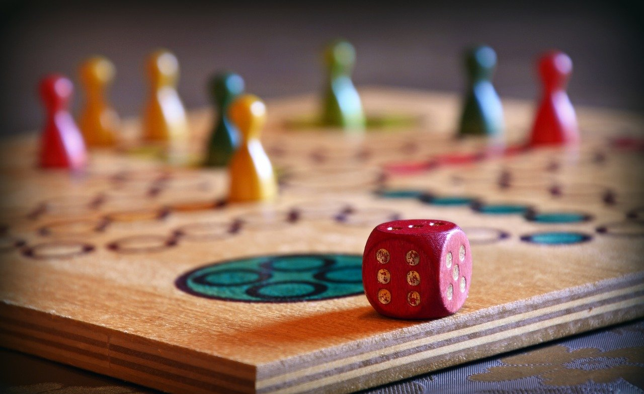 play, board game, cube